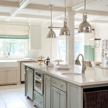 Faux Finish Kitchen Island, Transitional, kitchen, Sherwin Williams Wool Skein, Tobi Fairley