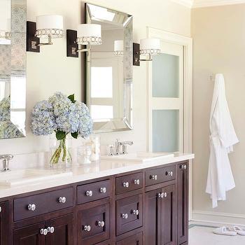Pottery Barn Bathroom Mirror, Contemporary, bathroom, Sherwin Williams Wool Skein, Tobi Fairley