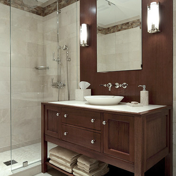Brown Bathroom Vanity, Contemporary, bathroom, Carole Freehauf