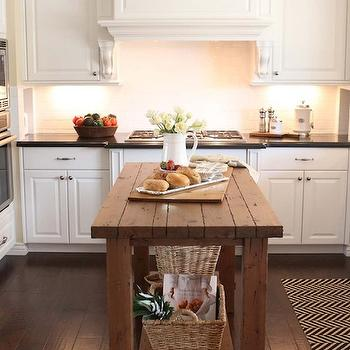 Reclaimed Wood Island, Transitional, kitchen, The Willows Home & Garden