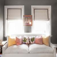 Erin Gates Design - nurseries - gray walls, gray paint, gray paint colors, nursery sofa, nursery couch, couch in nursery, sofa in nursery,  Chic