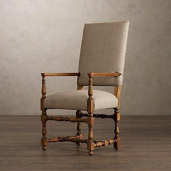Seating - 1890 English Baroque Upholstered Armchair | | Restoration Hardware - english, baroque, dining chairs