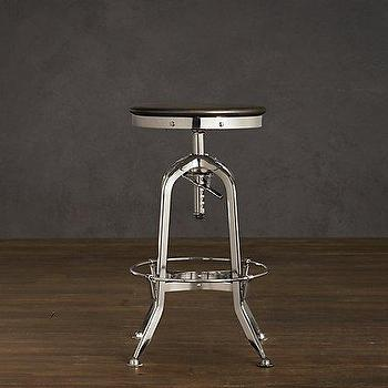 Vintage Toledo Barstool Polished Chrome, Bar & Counter Stools, Restoration Hardware