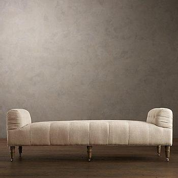 Seating - Camille Tufted Settee | Ottomans & Benches | Restoration Hardware - camille, tufted, settee