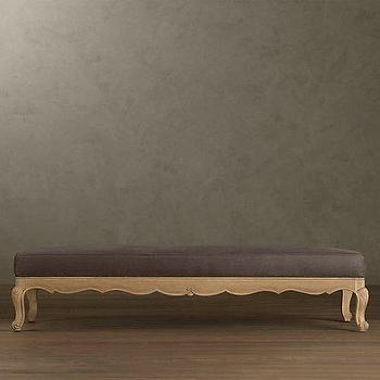 Seating - Louis XV Scalloped Bench | Ottomans & Benches | Restoration Hardware - Louis XV, French, scalloped, bench, ottoman