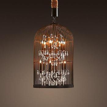 Lighting - Vintage Birdcage Chandelier Small | Chandeliers | Restoration Hardware - vintage, birdcage, chandelier