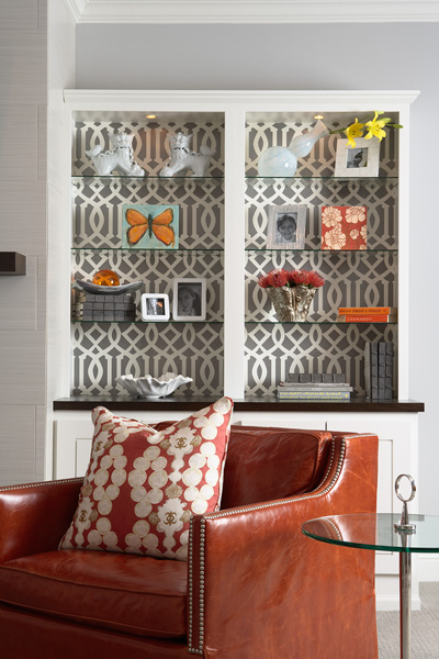 Wallpaper  Living Room on Hara Interiors Modern Fun Living Room Design With Gray Walls Paint