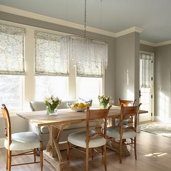 Grey Walls, Transitional, dining room, Benjamin Moore Northern Cliffs, Martha O'Hara Interiors