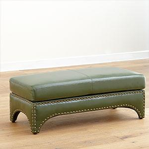 Winston Bonded Leather Ottoman, Living Room Furniture| Furniture, World Market