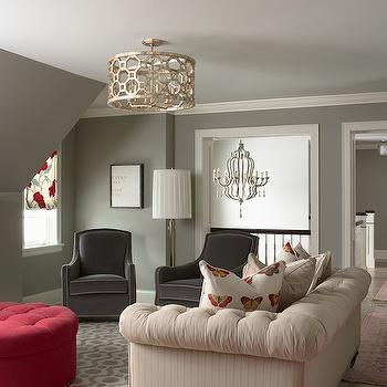 Grey Walls, Contemporary, living room, Benjamin Moore Northern Cliffs, Martha O'Hara Interiors