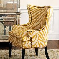 Seating - The Horchow Collection - Furniture - Chairs - Seating - Categories - sunflower, yellow, zebra, chair