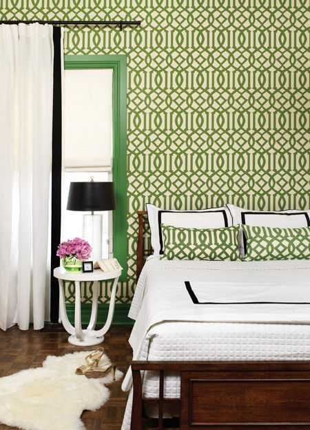 green trellis wallpaper schumacher - photo #3