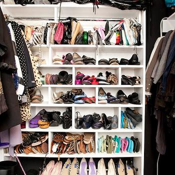 The Coveteur - closets - walk in closet, walk in closet shelves, walk in closet shelving, built-in shelves, built-in shelving, built in closet shelves, built in closet shelving, closet system, walk in closet system, walk in closet shelving unit,