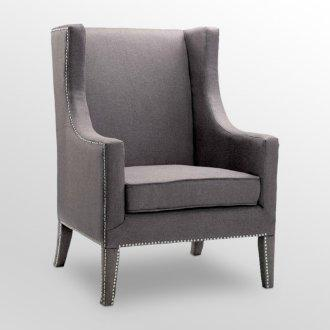 Seating - theFoundary.com - gray, wingback, chair