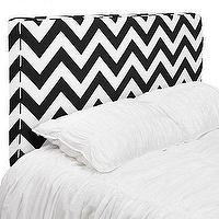 Beds/Headboards - Z Gallerie - Charlie Headboards - chevron headboard, black and white headboard