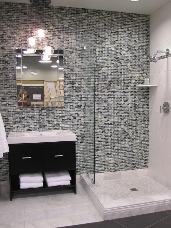 Contemporary Mosaic Tiles - Contemporary - bathroom
