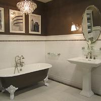 The Tile Shop - bathrooms - Tiel by the Tile Shop, brown walls, brown paint, brown paint color, espresso walls, espresso paint, espresso paint color, espresso wall color,