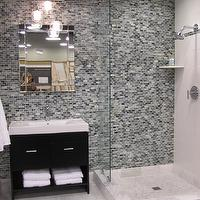 The Tile Shop - bathrooms - Tile, from, the, Tile, Shop,  Kirsty Froelich - Ceramic wall tile mixed with glass, marble floor