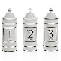 Decor/Accessories - Z Gallerie - Ceramic Number Canisters - numbered, canisters