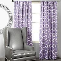 Window Treatments - Z Gallerie - Mimosa Panels - Orchid - purple, moorish tiles, mimosa, panels