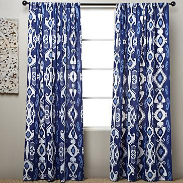 BLUE RED CURTAINS WINDOW TREATMENT   BLIND CURTAIN MAKING