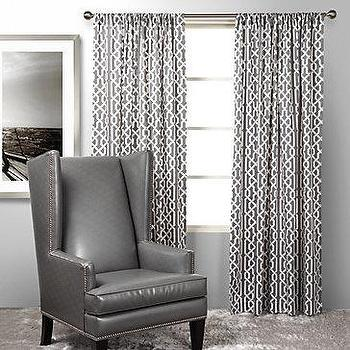 Window Treatments - Z Gallerie - Strada Panels - gray, trellis, strada, panels