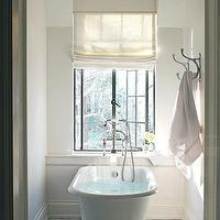 Atlanta Homes & Lifestyles - bathrooms - soaking tub, freestanding tub, soaking tub ideas, soaking bathtub, french windows, towel hooks,  Gorgeous