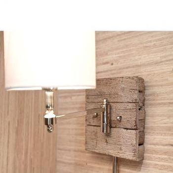 Reclaimed Wood and Chrome Sconce Light