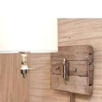 Lighting - Reclaimed Wood and Chrome Sconce Light - reclaimed wood, polished chrome, sconce