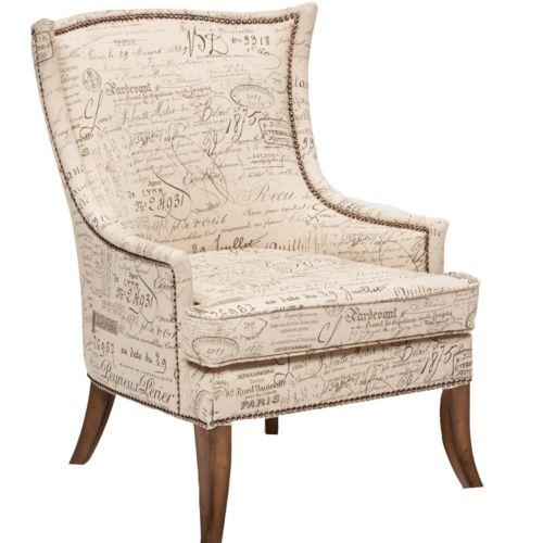 Gallery For French Script Fabric Chair