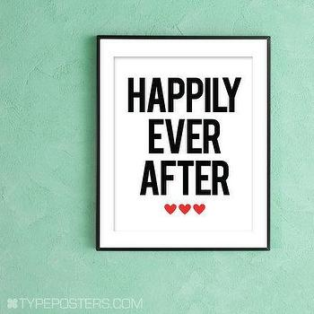 Happily Ever After Art Print by TypePosters on Etsy