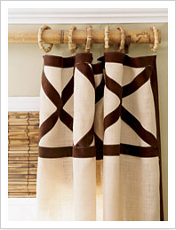 Window Treatments - Transforming Cheap Curtains - diy details, curtains
