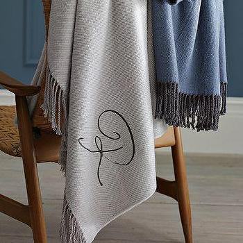 Bedding - Herringbone Throw | west elm - herringbone, monogrammed, throw