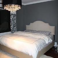 Life Begins at Thirty, Right? - bedrooms - benjamin moore asphalt, chandelier, skyline furniture, upholstered bed, nailhead trim, gray bedrooms, gray walls, gray rooms, gray bedroom design, gray paint, gray paint colors, gray bedrooms, gray walls, gray rooms, gray bedroom design, charcoal gray walls, charcoal gray paint, charcoal gray paint color, charcoal gray foyer walls, charcoal gray foyer paint, charcoal gray paint color,