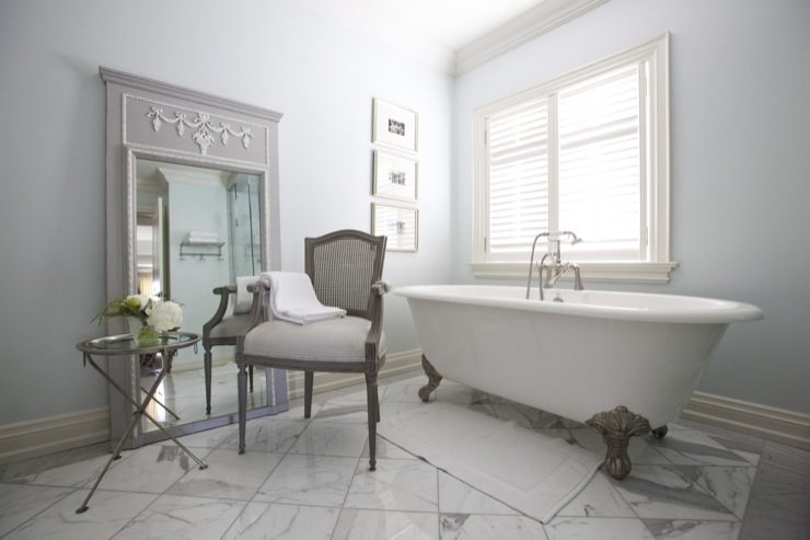 French Floor Mirror - French - bathroom - Jennifer Backstein Interiors