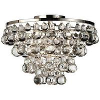 Lighting - Bling Collection Polished Nickel Flushmount Ceiling Light | LampsPlus.com - bling, chandelier