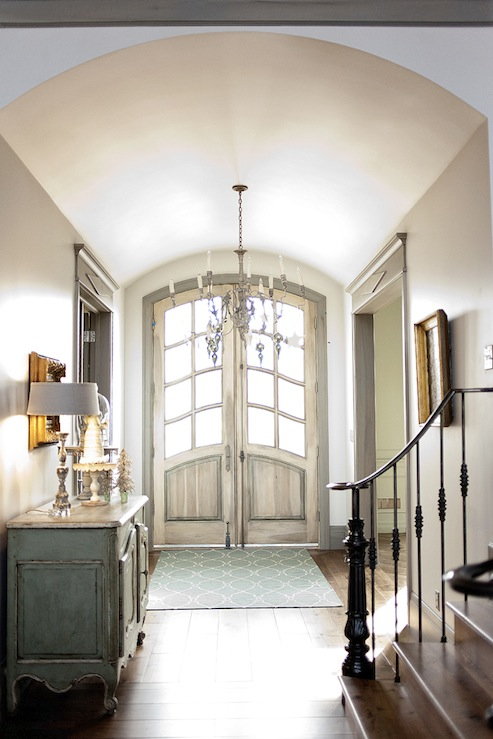Barrel Ceiling French Entrance Foyer Decor De Provence