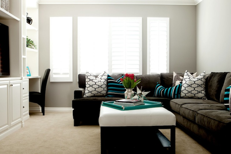 Gray Sectional - Contemporary - living room - Belmont Design Group