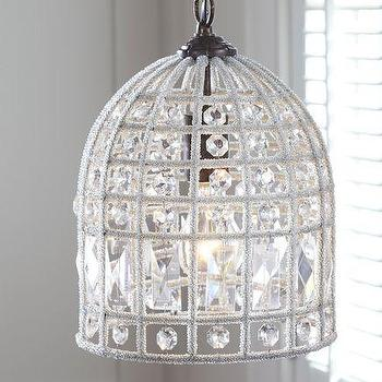 Lighting - Dalila Beaded Pendant | Pottery Barn - beaded, chandelier