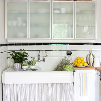 FRsoted Glass Cabinets, Vintage, kitchen, The Elegant Abode