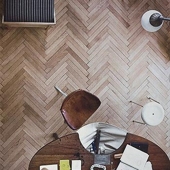 Herringbone Floor, Transitional, den/library/office