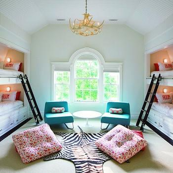 Built In Bunk Beds, Contemporary, girl's room