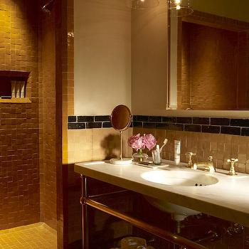 pen Shower Design, Transitional, bathroom, The Greenwich Hotel
