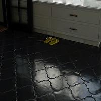 The Roof Over My Head - bathrooms - black, Moroccan, tiles, black, grout,  Amazing black Moroccan tiles with black grout.