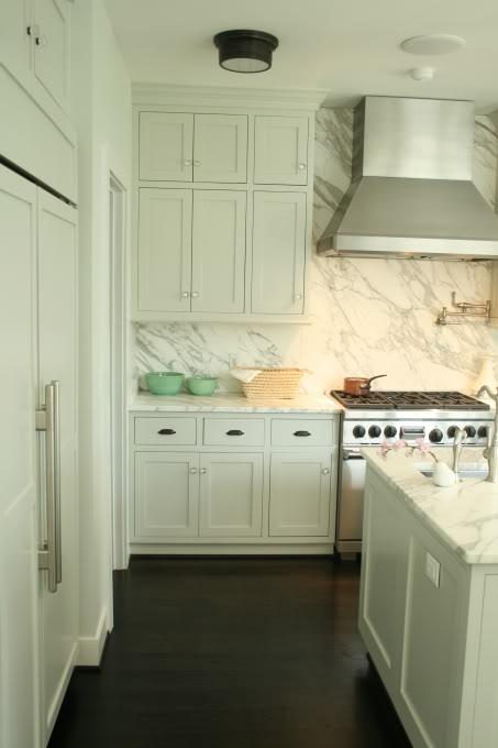 Marble Kitchen Backsplash  Transitional  kitchen  Rethink Design