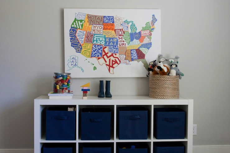 Caitlin Creer Interiors - boy's rooms - Benjamin Moore - Gray Owl - Ikea Expedit, Pottery Barn US Map, ikea expedit, expedit bookcase, ikea expedit bookcase, white ikea bookcase, white ikea expedit bookcase,
