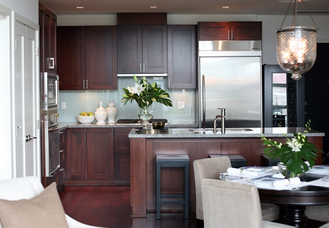 Cherry KItchen Cabinets  Contemporary  kitchen  Kerrisdale Design