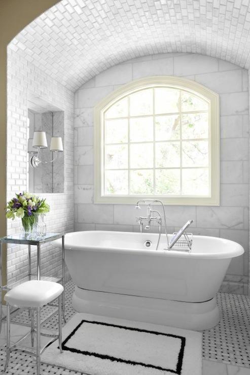 Alcove Bathtub Transitional Bathroom Mark Williams