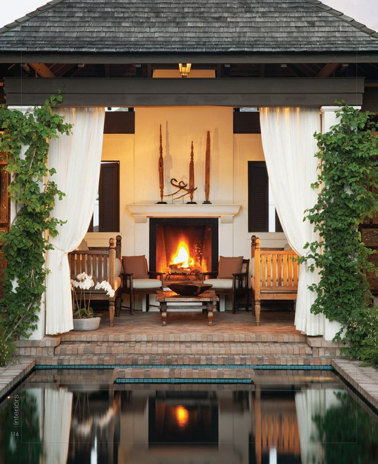 Pictures Of Outdoor Patios With Fireplaces : Patio Fireplace  Transitional  deckpatio