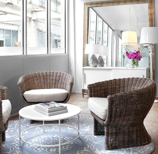Wicker Chairs - Transitional - living room - Mark Williams